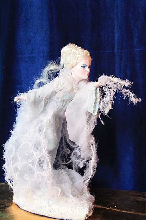 Сказочные персонажи ручной работы. Ярмарка Мастеров - ручная работа. Купить Авторская кукла из Papercley  Метелица. Handmade. Метель, зима