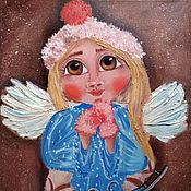 Картины и панно handmade. Livemaster - original item Angel of winter joys. Handmade.