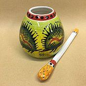 Посуда handmade. Livemaster - original item Calabass Porcupines with Bombillae porcelain (hand painted). Handmade.