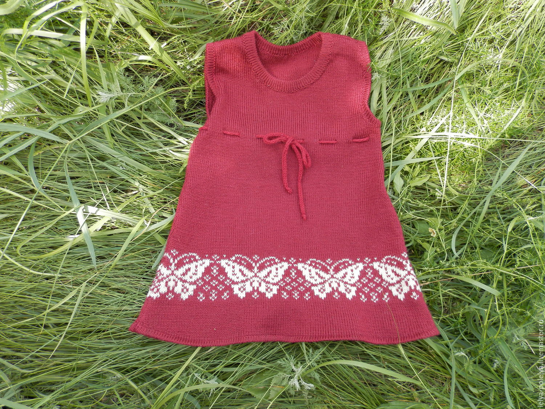 Вязание для девочки сарафан 34