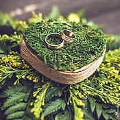 Свадебный салон ручной работы. Ярмарка Мастеров - ручная работа Подушечка для колец в славянском стиле. Handmade.