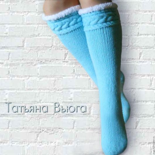 Носки шерстяные, вязаные носки, длинные вязаные носки, вязаные гольфы, домашние носки, сапожки вязаные, гетры высокие длинные, гольфы женские, носки вязаные купить
