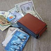 Сумки и аксессуары handmade. Livemaster - original item Very compact wallet, Z-Fold-mini. Orange-Green-Blue.  RFID protection. Handmade.