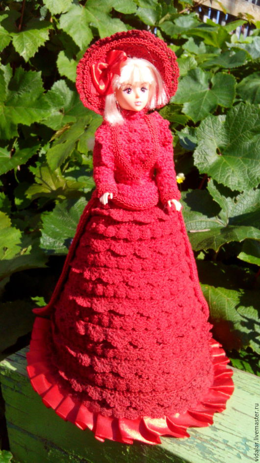 Одежда для кукол ручной работы. Ярмарка Мастеров - ручная работа. Купить Зимний дорожный красный костюм. Handmade. Ярко-красный