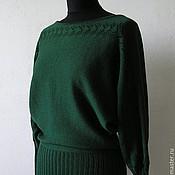 Одежда ручной работы. Ярмарка Мастеров - ручная работа Летучая мышь. Темно-зеленая. Handmade.