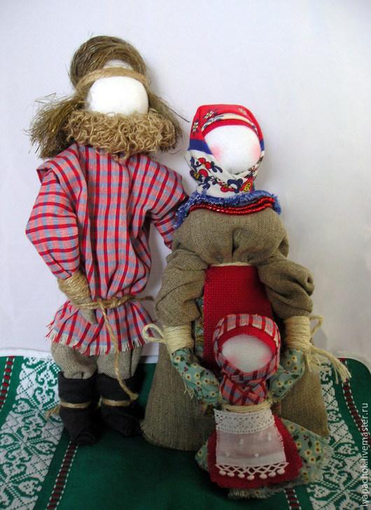 """Народные куклы ручной работы. Ярмарка Мастеров - ручная работа. Купить Народные куклы оберег """"Семья"""". Handmade. Разноцветный, домоткань"""