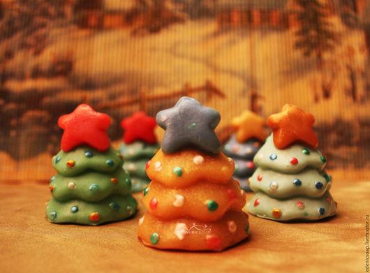 Новогоднее мыло ручной работы. Новый год. Подарки детям Edenicsoap.