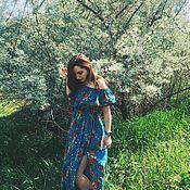 Одежда ручной работы. Ярмарка Мастеров - ручная работа Сарафан с цветочным принтом. Handmade.