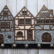 Для дома и интерьера handmade. Livemaster - original item Housekeeper Alpine Houses 7. The housekeeper wall.. Handmade.