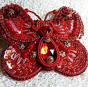 """Украшения ручной работы. Ярмарка Мастеров - ручная работа """"Коралловая бабочка""""брошь. Handmade."""