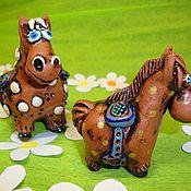 """Куклы и игрушки ручной работы. Ярмарка Мастеров - ручная работа """"Конь под седлом"""" - Лошадка №4. Handmade."""
