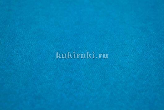 Шитье ручной работы. Ярмарка Мастеров - ручная работа. Купить Голубая велкроткань на клеевой основе. Handmade. Велкроткань, ткань