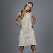 """Платья ручной работы. Ярмарка Мастеров - ручная работа Валяное платье  """"Cream Rose"""". Handmade."""
