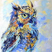 Картины и панно handmade. Livemaster - original item The picture of the owl