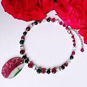Украшения handmade. Livemaster - original item Necklace of agate, tiger, cat`s eye. Handmade.