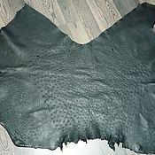 Материалы для творчества handmade. Livemaster - original item Ostrich leather, haberdashery, in black.. Handmade.