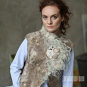 Одежда ручной работы. Ярмарка Мастеров - ручная работа Валяный жилет «Ирландия». Handmade.