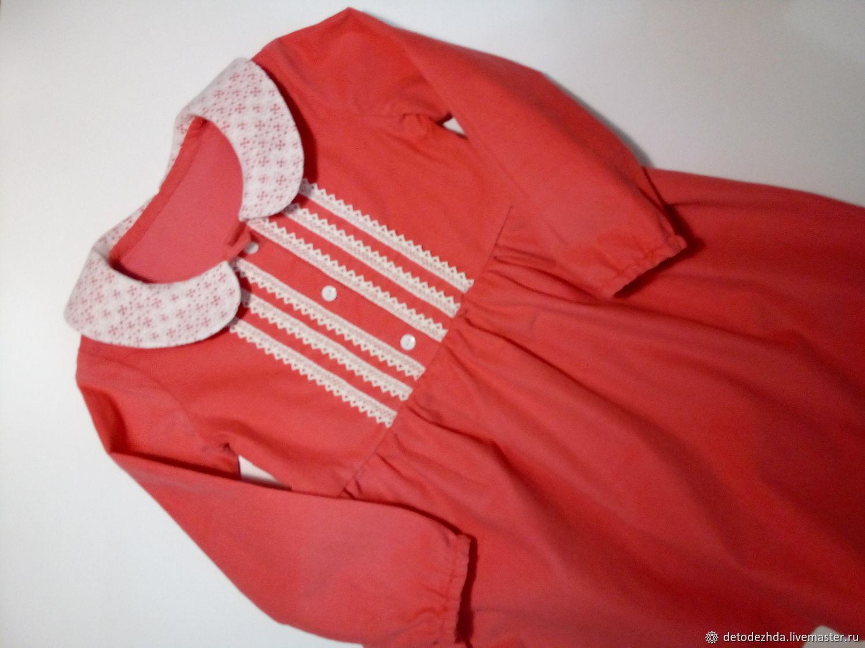 Платье для девочки из микровельвета