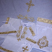 Christening set handmade. Livemaster - original item Baptismal set