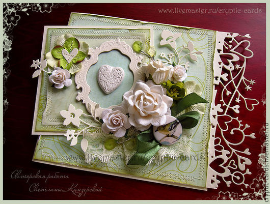 """Свадебные открытки ручной работы. Ярмарка Мастеров - ручная работа. Купить Набор """"Мятная свежесть"""" разные цвета. Handmade."""