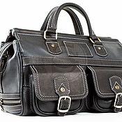 Сумки и аксессуары handmade. Livemaster - original item Leather travel bag Small black. Handmade.