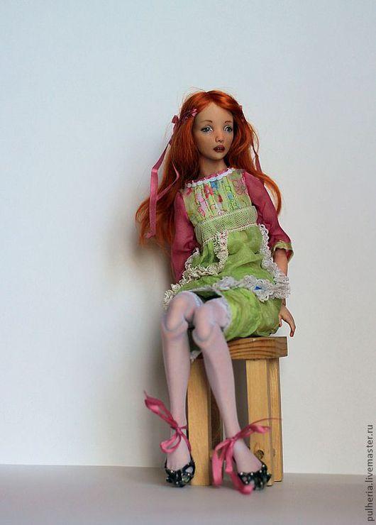 Коллекционные куклы ручной работы. Ярмарка Мастеров - ручная работа. Купить Алиша. Handmade. Салатовый, фарфор
