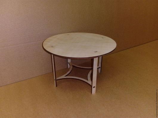 Кукольный круглый стол в масштабе 1:6
