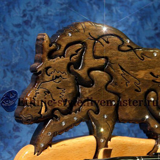 Статуэтки ручной работы. Ярмарка Мастеров - ручная работа. Купить Кабан (Вепрь, статуэтка). Handmade. Ручная работа, охота