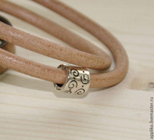 Для украшений ручной работы. Ярмарка Мастеров - ручная работа. Купить Бусина для шнура d.5 мм ТРУБОЧКА два вида. Handmade.