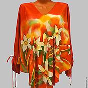 """Одежда ручной работы. Ярмарка Мастеров - ручная работа Хитон-батик """"Нарциссы"""". Handmade."""