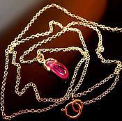 Подвеска ручной работы. Ярмарка Мастеров - ручная работа Подвеска с натуральным рубинчиком Pink ruby. Handmade.
