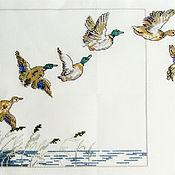 Картины и панно ручной работы. Ярмарка Мастеров - ручная работа летят утки, летят утки.... Handmade.