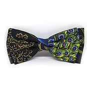 Аксессуары handmade. Livemaster - original item Bow tie with peacocks. Handmade.