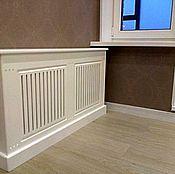 Для дома и интерьера handmade. Livemaster - original item Screen for radiator heating.With cap.. Handmade.