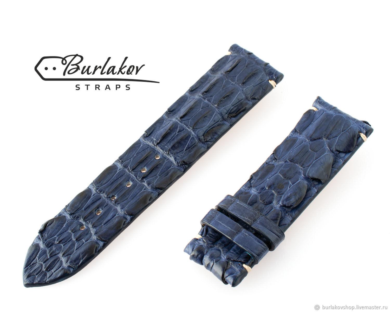 24 mm Crocodile Leather Watch Strap, Watch Straps, Krasnodar,  Фото №1