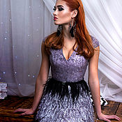 "Платье с бахромой ""Серебро"""