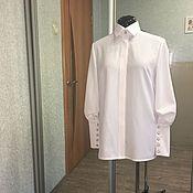 Одежда ручной работы. Ярмарка Мастеров - ручная работа Оригинальная белая рубашка.. Handmade.