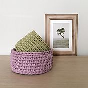 Для дома и интерьера handmade. Livemaster - original item A set of baskets. Knitted basket. Handmade.