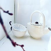 """Посуда ручной работы. Ярмарка Мастеров - ручная работа Чайник """"Гороховое безобразие"""". Handmade."""