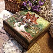 """Для дома и интерьера ручной работы. Ярмарка Мастеров - ручная работа """"На околице"""" шкатулка. Handmade."""