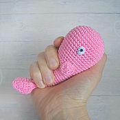 Куклы и игрушки ручной работы. Ярмарка Мастеров - ручная работа Розовый кит - вязаная игрушка амигуруми. Handmade.