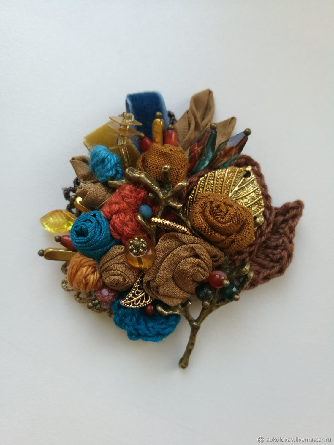 Copy of Brooch textile 'Vanilla sky', Brooches, Moscow,  Фото №1