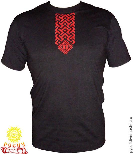 Футболка обережная Волот. 100% хлопок. Вышивка крестом по вороту. При заказе просьба указывать размер футболки, по желанию - цвет футболки и вышивки.