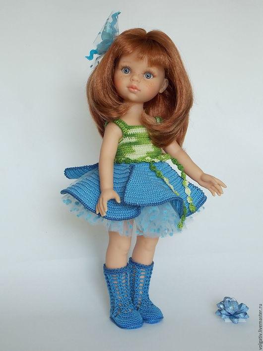 Одежда для кукол ручной работы. Ярмарка Мастеров - ручная работа. Купить Ленок - наряд ля кукол Paola Reina. Handmade.