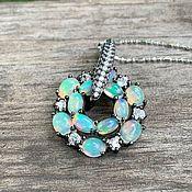 Украшения handmade. Livemaster - original item Silver pendant with opals. Handmade.