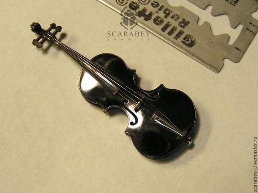 Миниатюрные модели ручной работы. Ярмарка Мастеров - ручная работа. Купить Миниатюрная скрипка в подарок. Handmade. Темно-серый, подарок