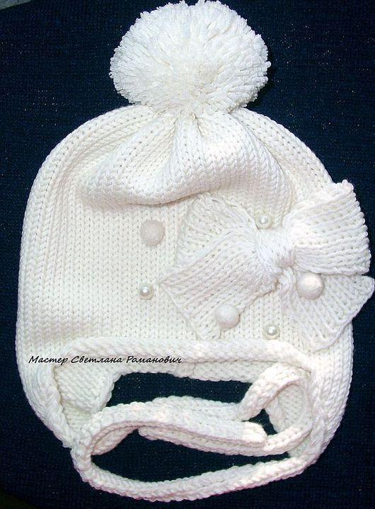 """Шапки и шарфы ручной работы. Ярмарка Мастеров - ручная работа. Купить Теплая шапочка для ляли """"Нежно...снежно..."""". Handmade."""
