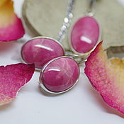 Украшения handmade. Livemaster - original item Set with rhodonite