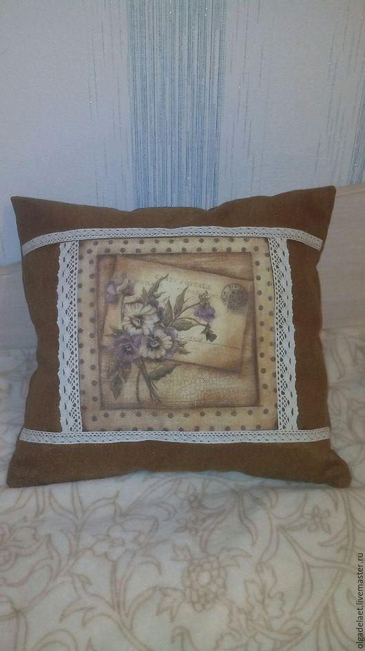 """Текстиль, ковры ручной работы. Ярмарка Мастеров - ручная работа. Купить Подушка в стиле """"прованс"""". Handmade. Подушка на диван"""