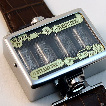 Субкультуры ручной работы. Ярмарка Мастеров - ручная работа Ламповые наручные часы стимпанк. Handmade.